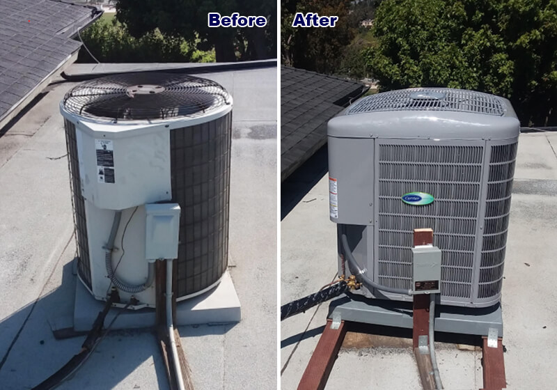 Air conditioner installation, Orange County