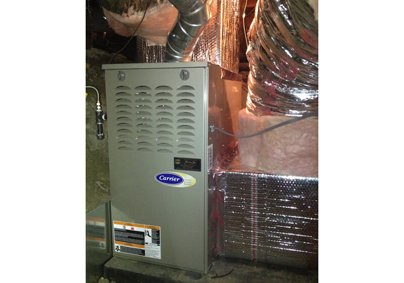 Carrier Gravity Furnace Installation