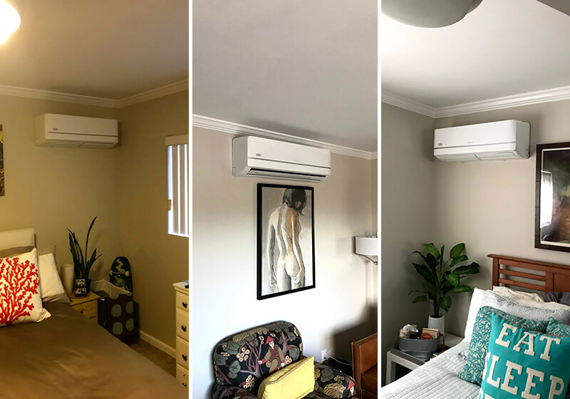 Multi-Zone Ductless Mini Split System Installation in Laguna Beach, CA